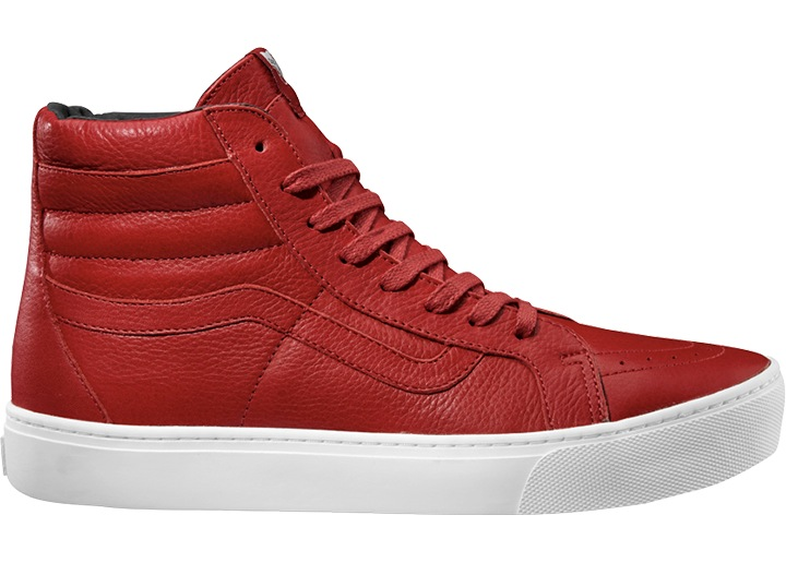 02d296a47a Vans Ankle shoe Leather shoe Skate shoes red SK8-Hi Cup Leather